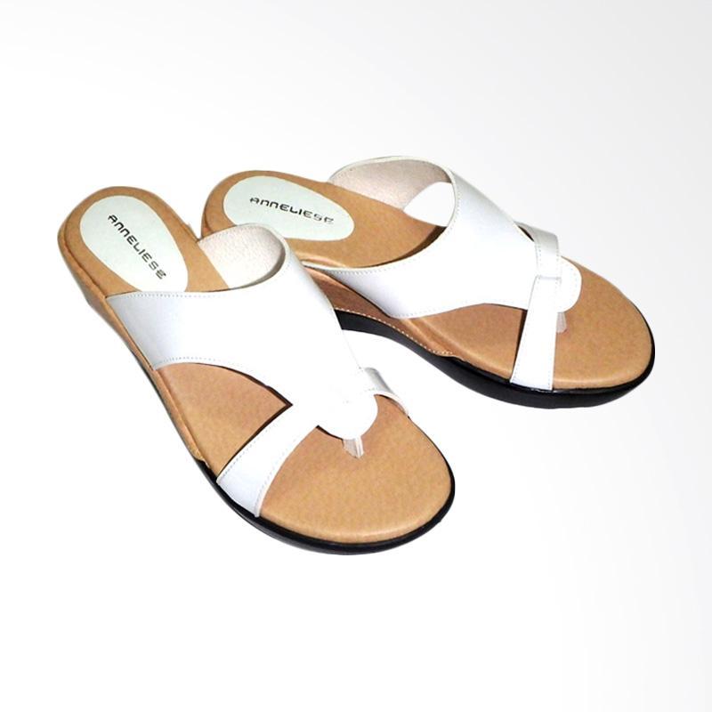 Anneliese Trixie Sandal Wedges Wanita - White