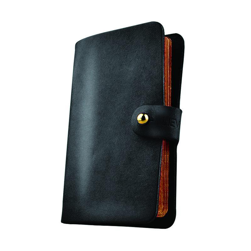 LIEVO EASY - Genuine Leather Smartcard Holder - Black