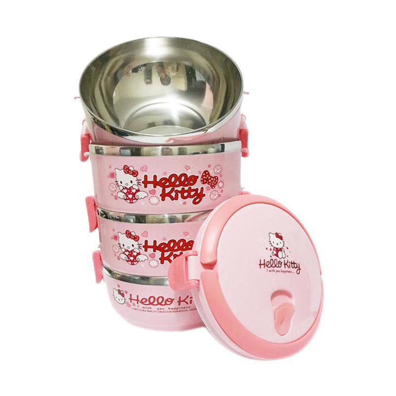 harga OEM Motif Hello Kitty Rantang Karakter 4 Susun - Pink Blibli.com