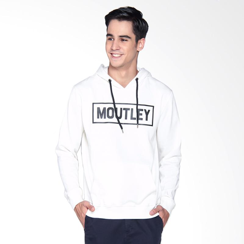 Moutley 0408 Hoodie Jacket Pria - White 304081715