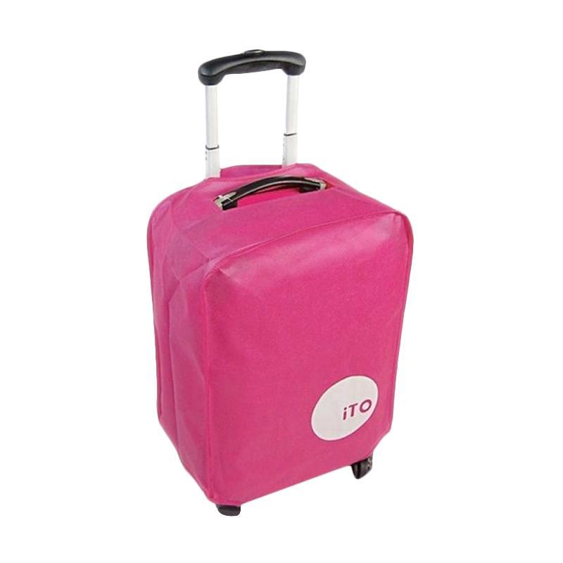ITO Luggage Cover Pelindung Koper - Pink [26 Inch]