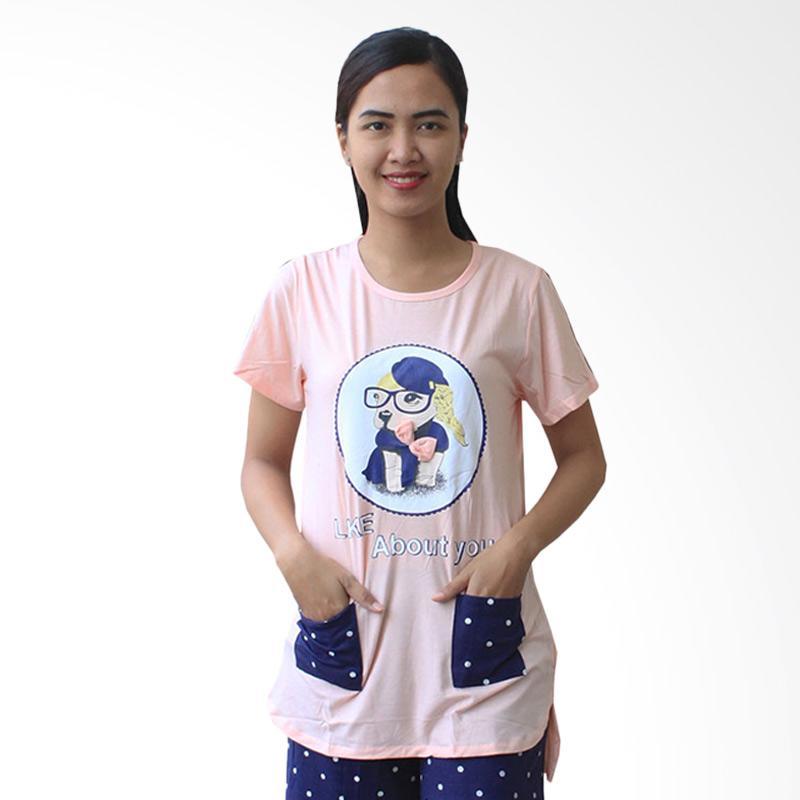 Aily 987 Setelan Baju Tidur Wanita - Peach