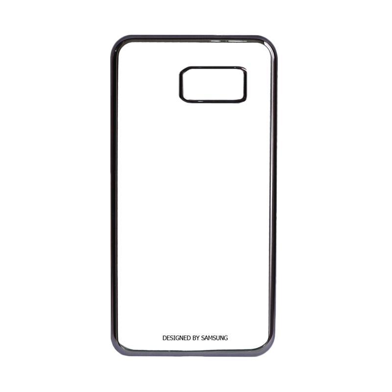 Samsung Shining List Chrome Hardcase Casing for Galaxy S7 Edge - Black