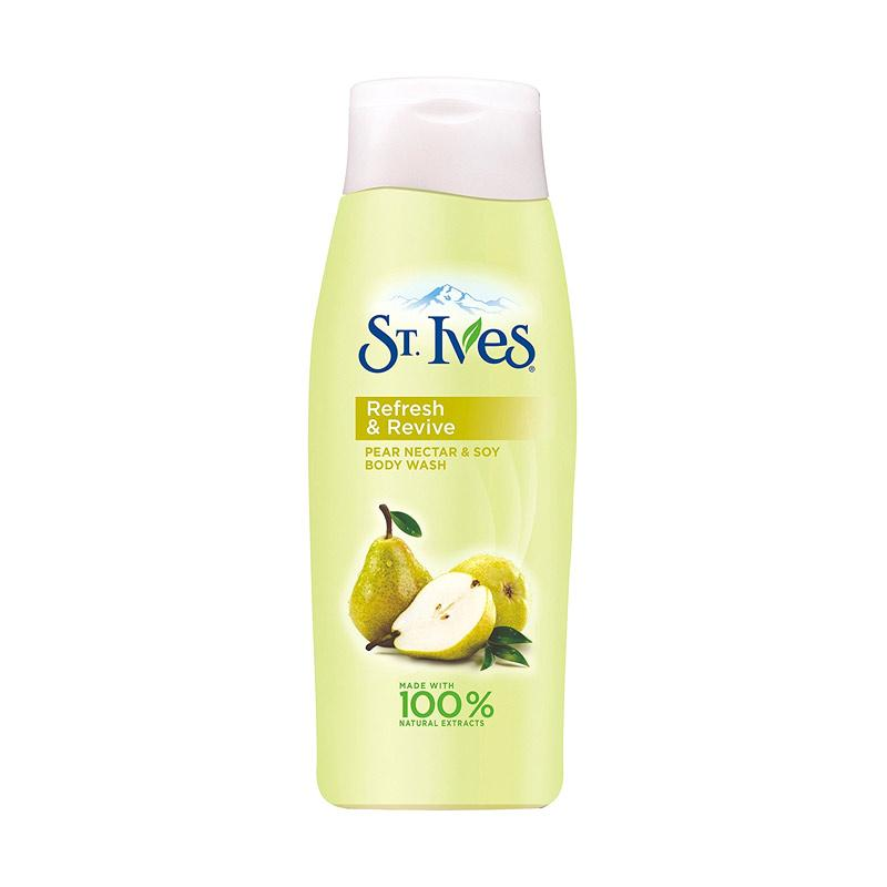 St. Ives Refresh & Revive Pear Nectar and Soy Body Wash [24 Oz]