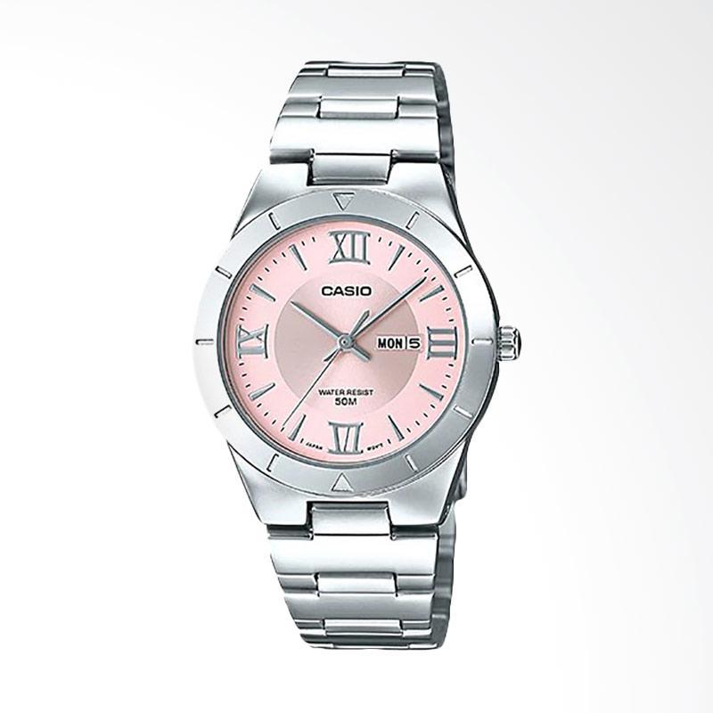 Casio LTP-1410D-4AVDF Enticer Ladies Pink Dial Ion Plated Jam Tangan Wanita