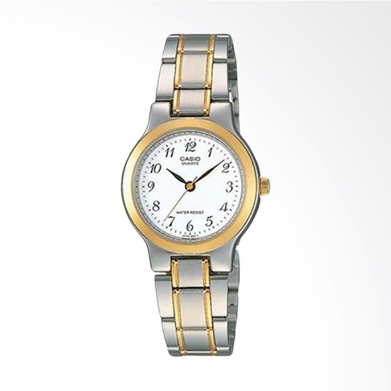 Casio LTP-1131G-7BRDF Enticer Ladies White Dial Stainless Steel Jam Tangan Wanita
