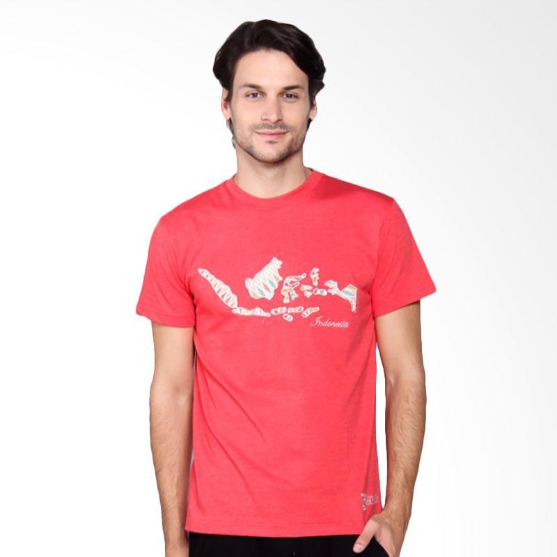 Batik Heritage Indonesia T-Shirt Pria - Peach