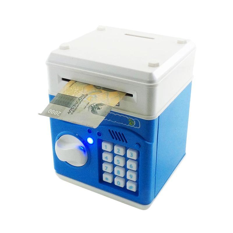 harga Otoys Coin Bank Doraemon Saving Box ATM Brankas MS-678A Celengan - Biru Blibli.com