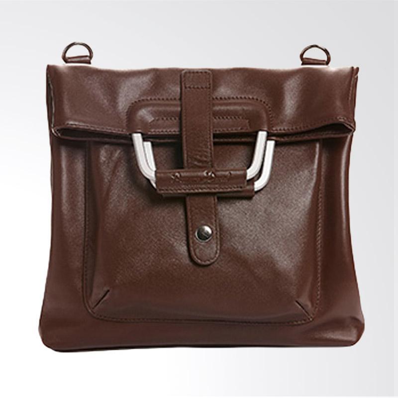 Amore Daniel Leather Patt - A4 Multifunction Bag - Dark Brown