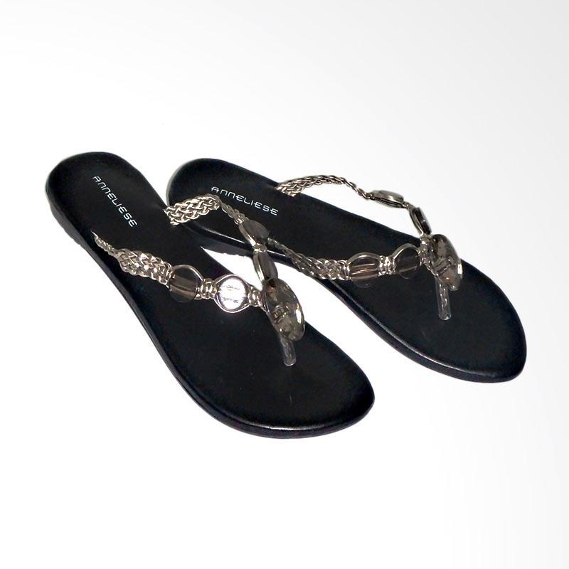 Anneliese Sandal Flat Wanita - Maggie Black