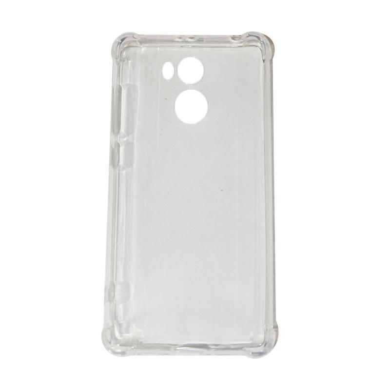 QCF Buy 1 Get 1 Softshell List Anti Shock Anti Crack Ultrathin Softcase Casing for Xiaomi Redmi 4 Pro - Transparan