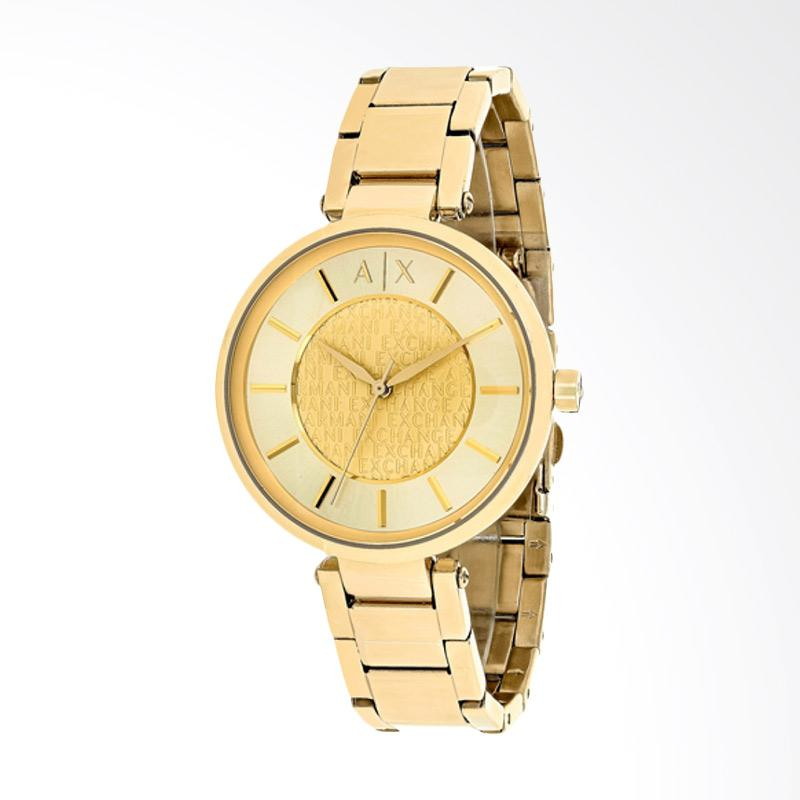Armani Exchange AX5316 Ladies Street Gold Dial Gold Stainless Steel