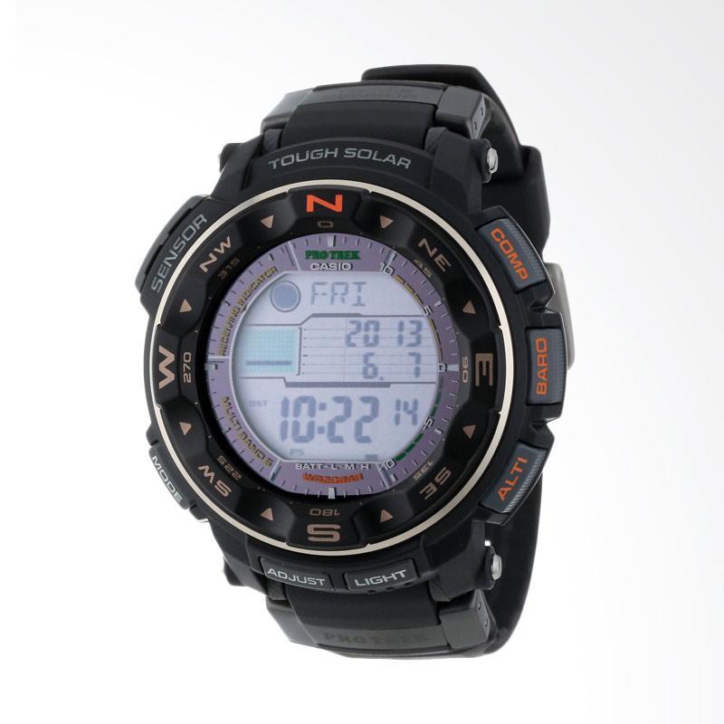 Casio Men's ProTrek Tough Solar Digital Sport Watch Jam Tangan Pria PRW-2500R-1CR