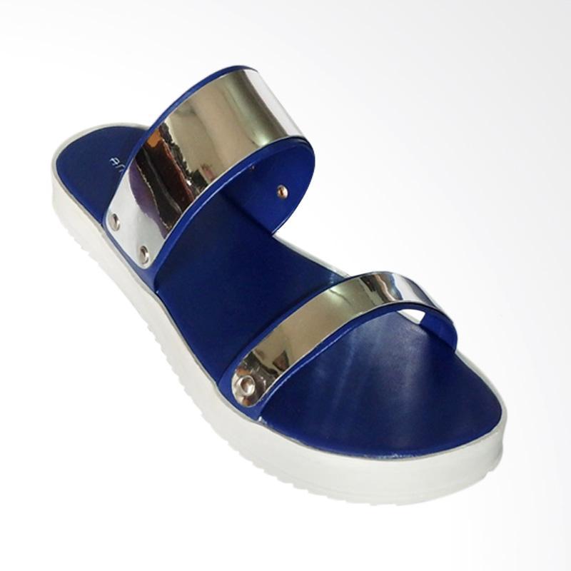 Anneliese Hara Sandal Flat Wanita - Blue