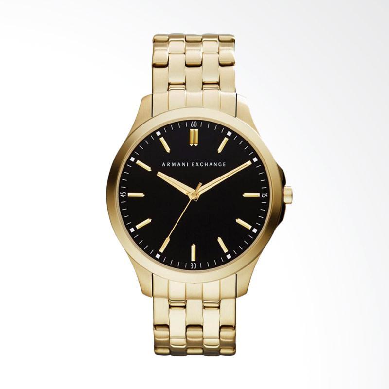 Armani Exchange Black Dial Stainless Steel Watch  Jam Tangan Pria - Gold Tone AX2145