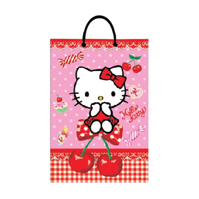Buy 1 Get 1 - Something Sweet BA 2215-KT001-SS Hello Kitty I love Cherry Pink Paper Bag [Small SS]
