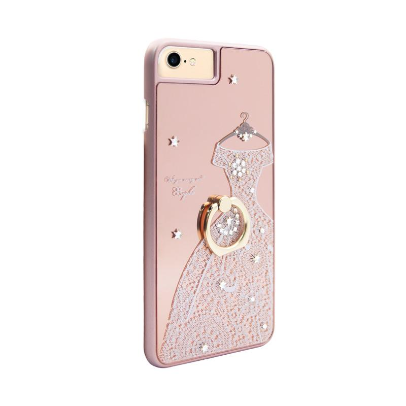 apbs® x Swarovski A Wedding Dress Ring Casing for iPhone 6 or 7 - Pink