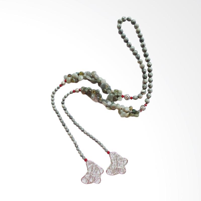 Advaya Jewel Batu Picaso Jasper Kalung Wanita - Stone Grey