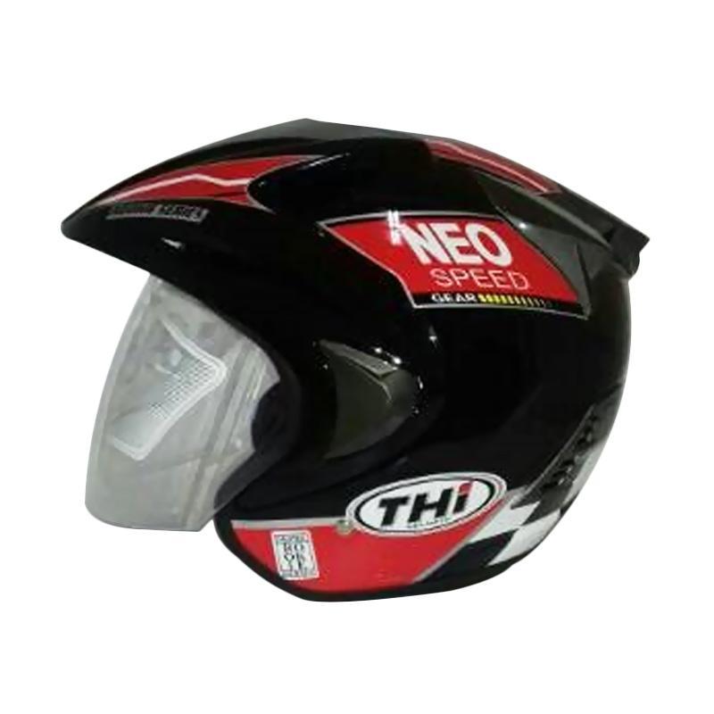 THI Helmets Rookie Grafis Neo Helm Half Face - Merah Hitam