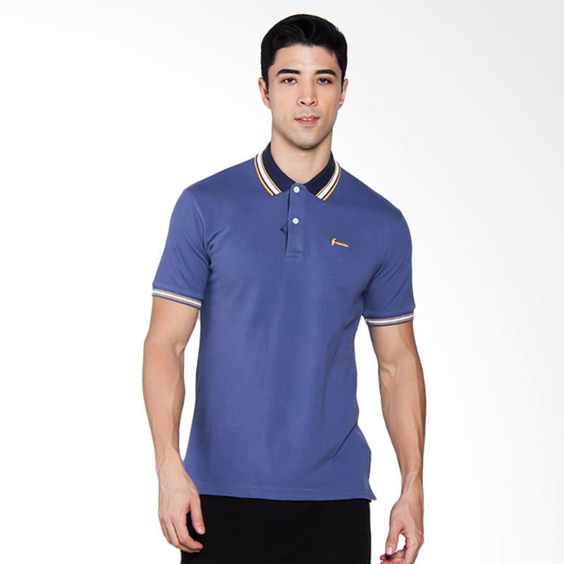 HUT BRI - Hammer Indigo Poloshirt Atasan Pria - Blue [1PF419B1]