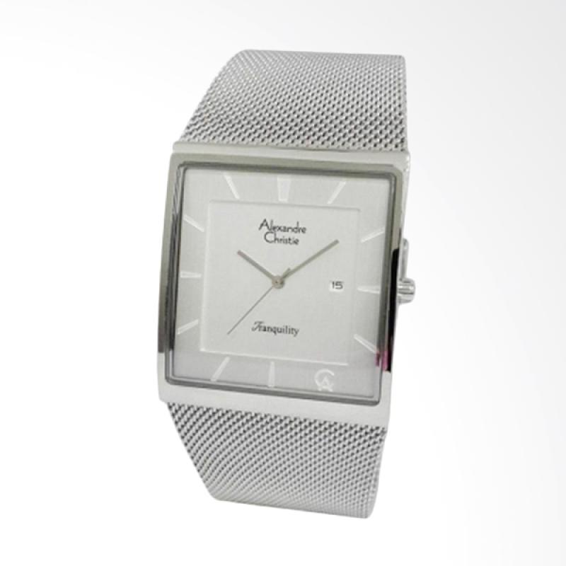 Alexandre Christie Jam Tangan Pria - Silver White 8333