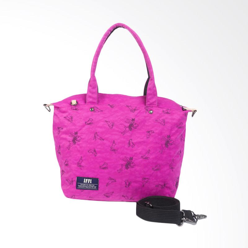 IPC Mansion Selected iFFi x Jimmy Furry Rabbit Tote Bag - Fuchsia