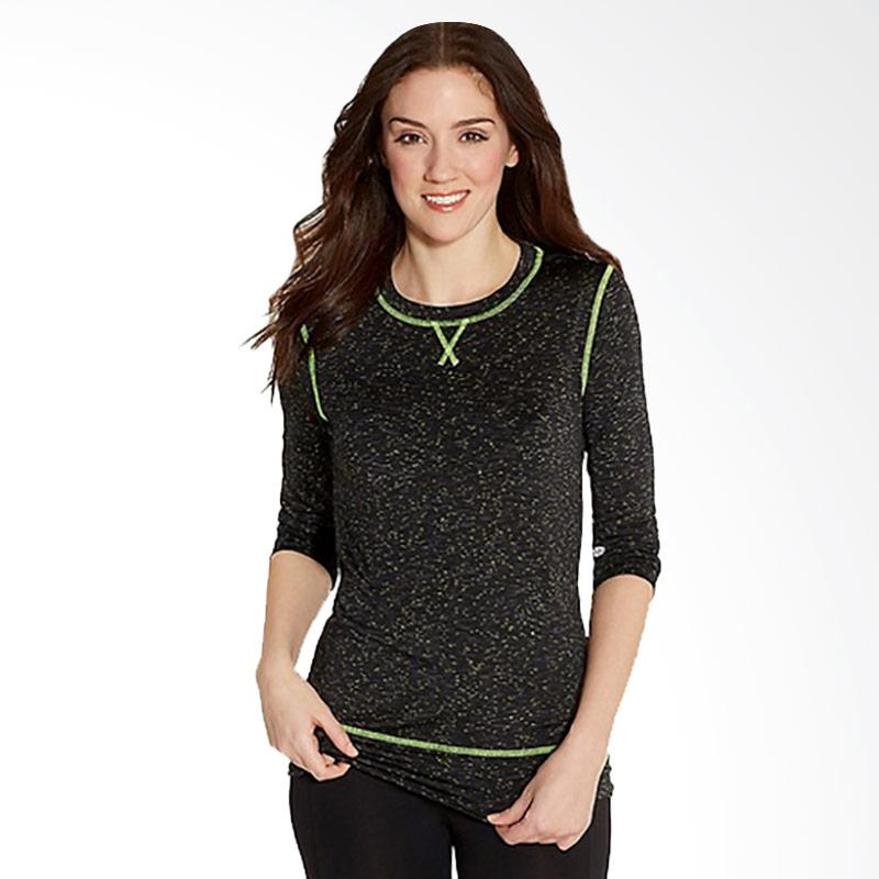 Maurices Spacedye Pullover Black With Neon Stitching And Open Back Baju Olahraga Wanita [3MLS01]