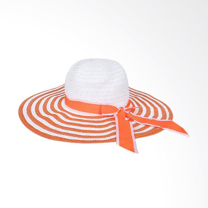 Jual Elfs Shop Beach Hat Girl Big White List Topi Pantai Wanita - Orange  Online - Harga   Kualitas Terjamin  d210b6bcfd