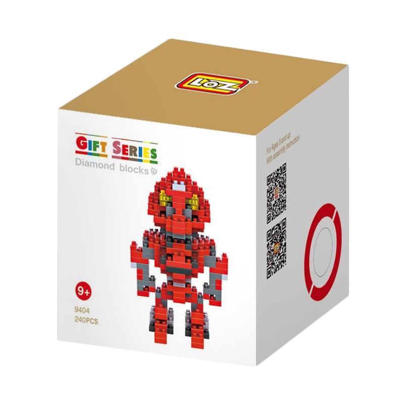 Loz Large Gift 9404 Red Robot Mainan Mini Blocks