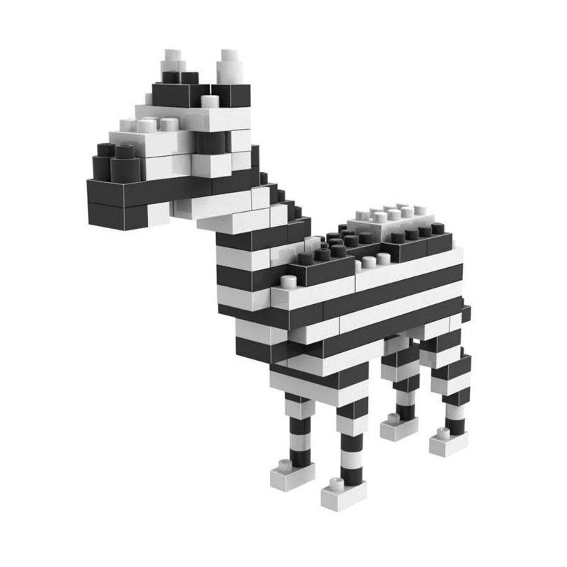 Loz Small Gift 9316 Zebra Mainan Blok & Puzzle