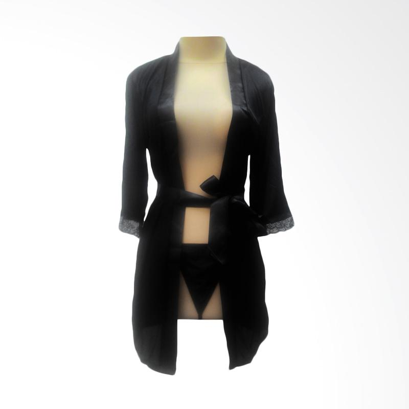 harga Jakarta Lingerie JLF094 Kimono Sexy Lingerie - Black Blibli.com
