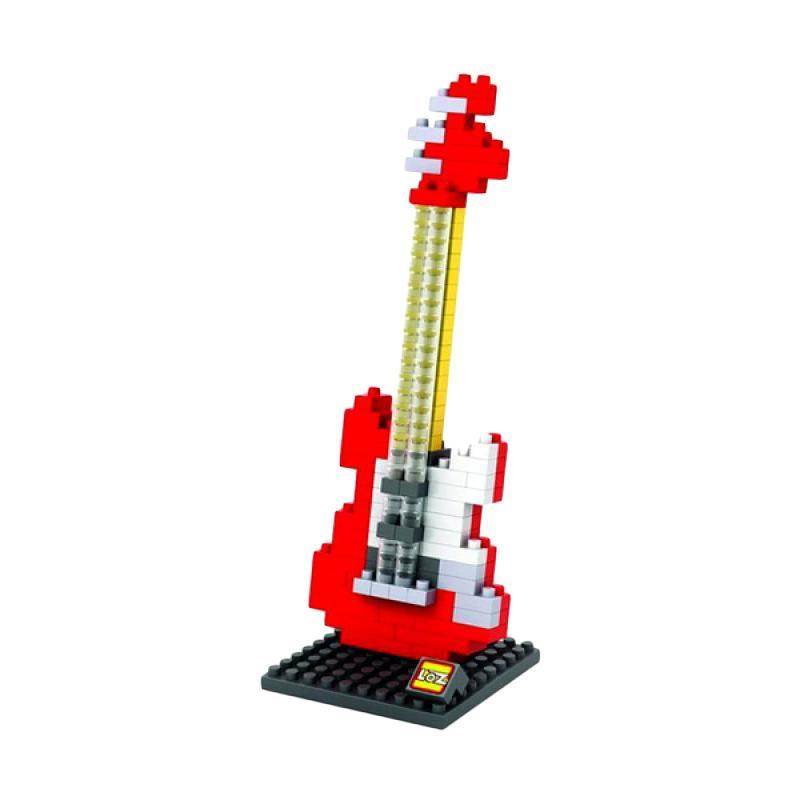Loz Gift 9192 Medium Electric Guitar Red Mainan Anak