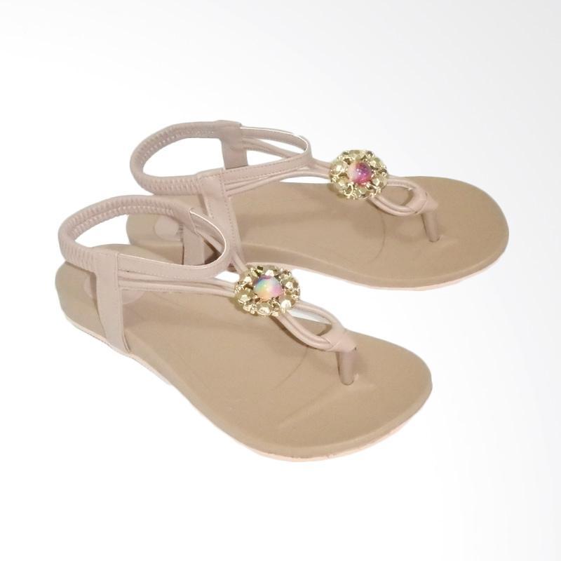 Anneliese ai 02 Sandal Flat Wanita - Mocca