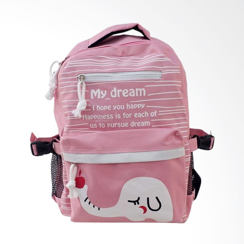 Chloebaby Shop S318 Ransel Tas Sekolah Anak - Pink
