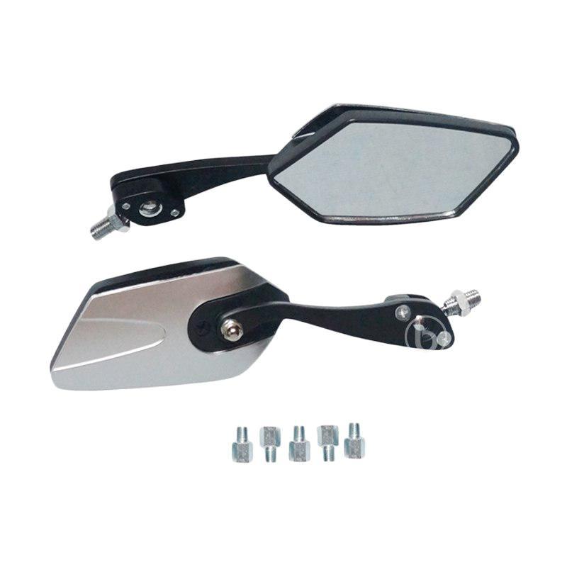 harga TAD JL237 Model Tumpuk Kaca Spion Motor for Yamaha F1Zr Fiz R - Silver Blibli.com