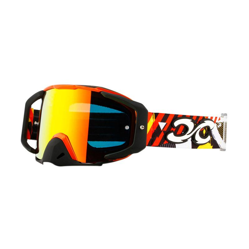 Xforce® Assassin Moto Cross Goggle - Bright Orange/Matte Black