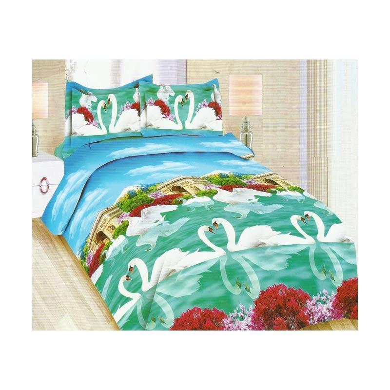 harga Bonita Romantic Swan Set Bedcover dan Sprei Blibli.com
