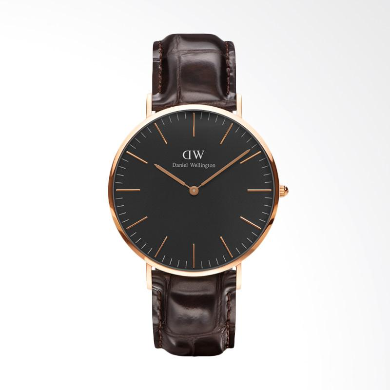 Daniel Wellington Classic Black York Jam Tangan Pria - Rose Gold [40mm]