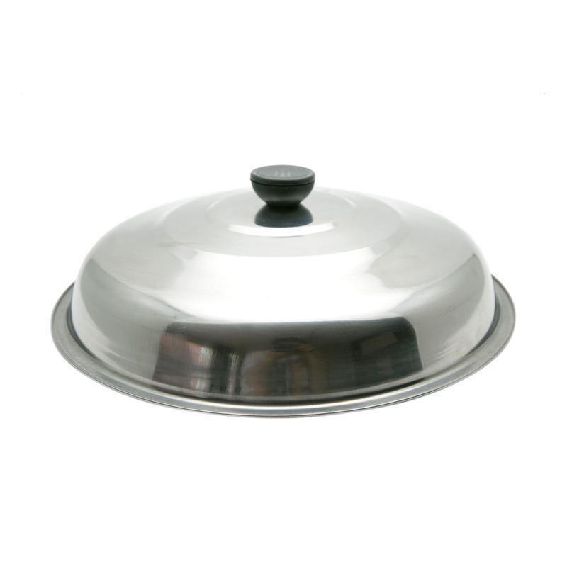 HAN F061 Wok Stainless Tutup Panci Kuali - Perak [34 cm]