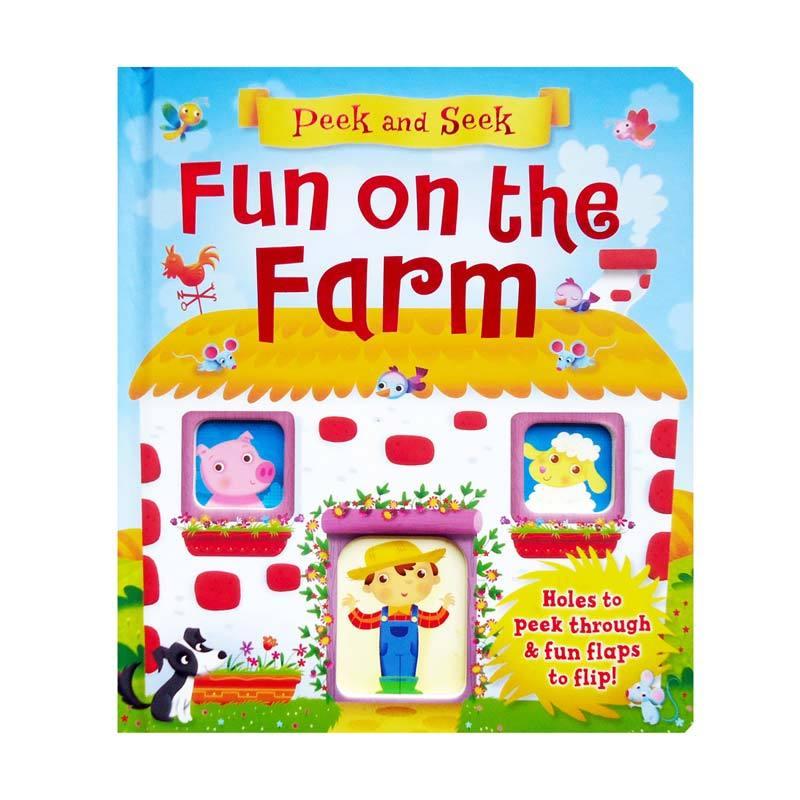 Genius Peek and Seek Fun on the Farm Buku Anak