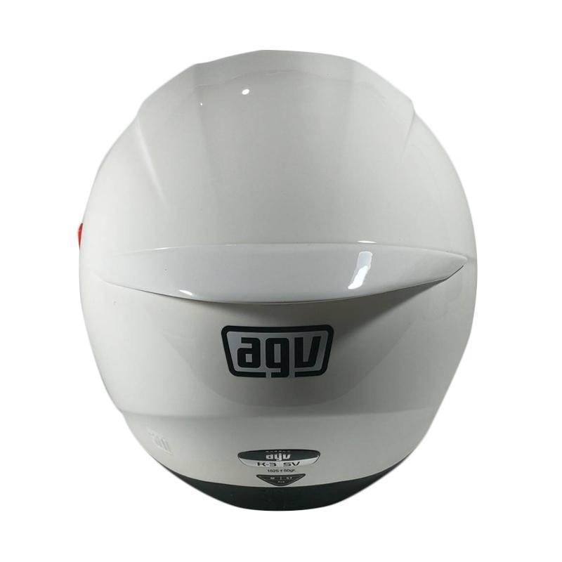 Jual Agv K3 Sv Double Visor Helm Full Face Solid White Online Maret 2021 Blibli