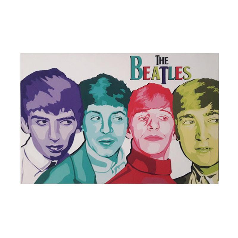 ENVIE Printing The Beatles Lukisan Kanvas [60 x 40 cm]