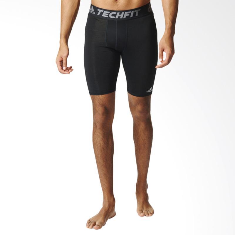 adidas Originals Men Techfit Base Short Tight Celana Olahraga Pria - Black [AJ5037]