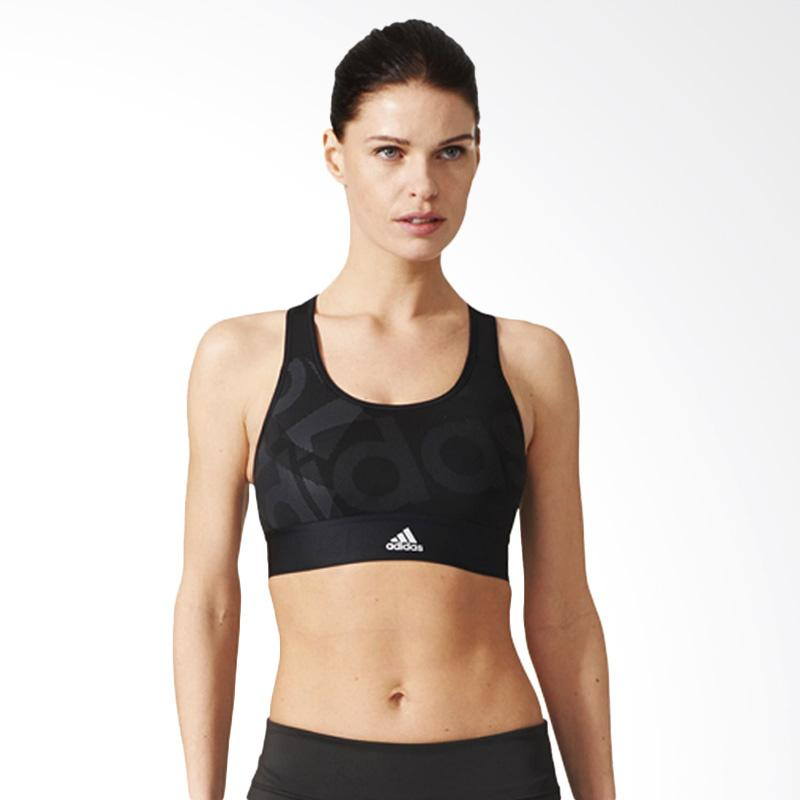 adidas Originals Techfit LO Sport Bra Wanita - Black White [BR7932]