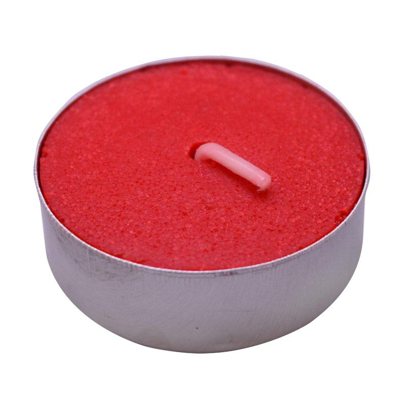 Indische Candle House Tealight Lilin - Merah