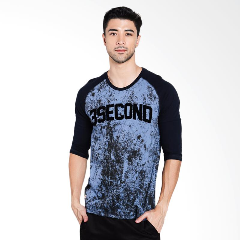 3SECOND Men 4312 T-Shirt Pria - Blue