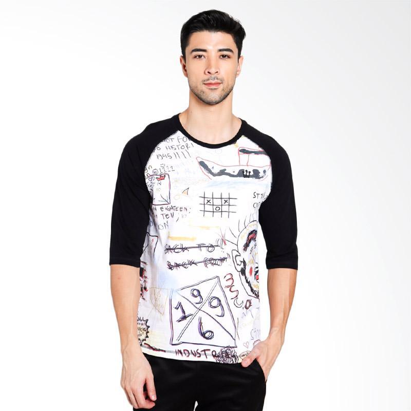 3SECOND Men 4612 T-Shirt Pria - Black [146121712]