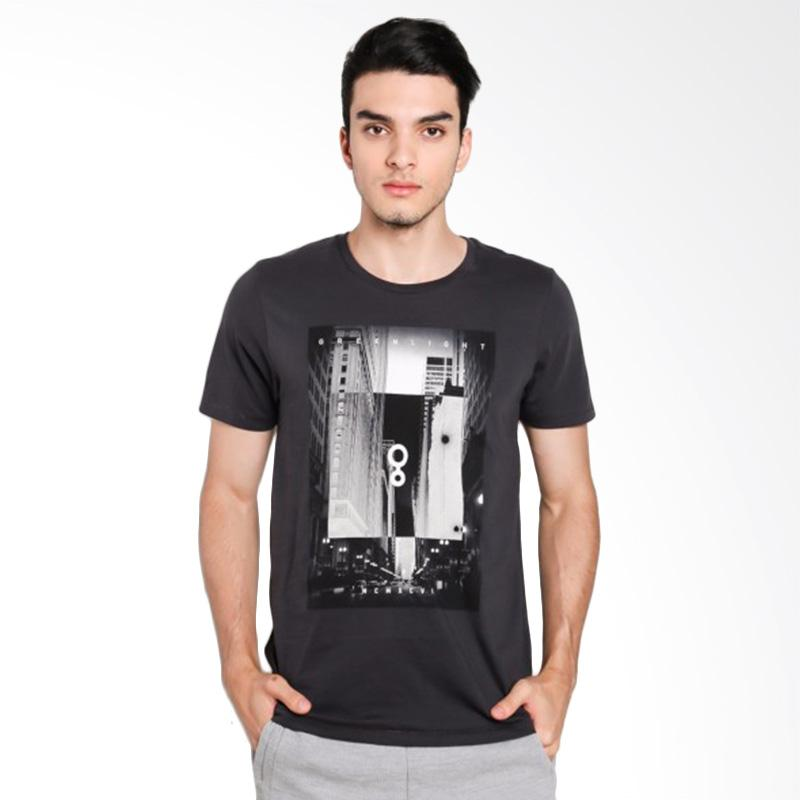 Greenlight Men 7212 T-Shirt Pria - Grey