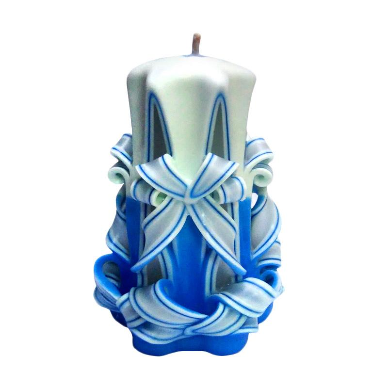 Indische Candle House Forget Me Not Lilin Ukir [4 Inch] Handmade dan Orgnik Wax