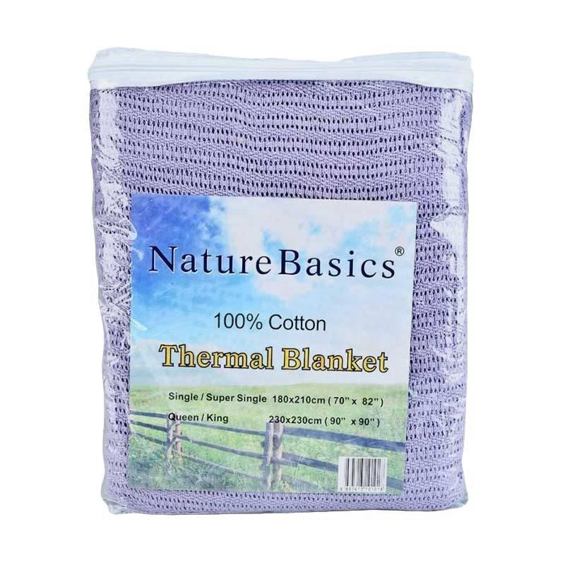 Valerie Thermal Blanket Single Selimut - Purple